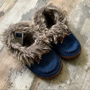 Super soft suede/fur fully lined toddler slippers